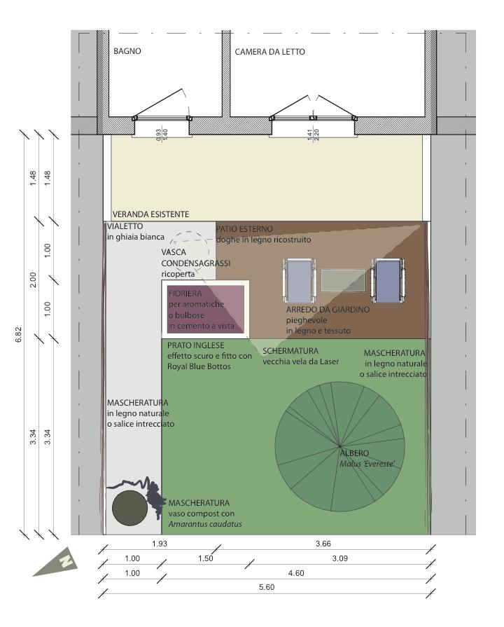 Un progetto per un giardino di 16 mq bestprato for Giardino 30 mq progetto