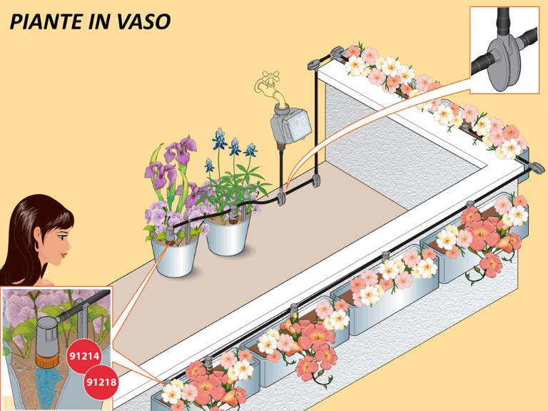 irrigazione vasi terrazzo