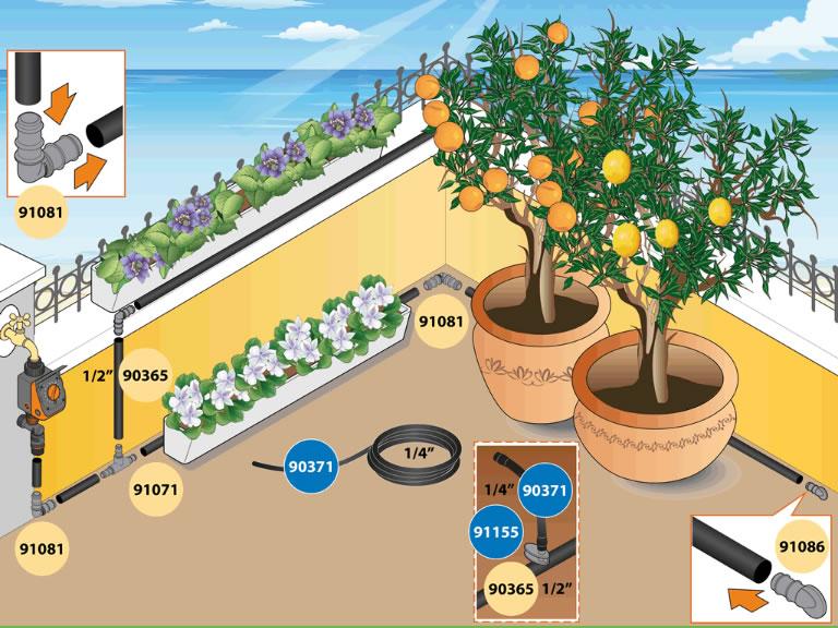 impianto di irrigazione goccia realizzare fai da te