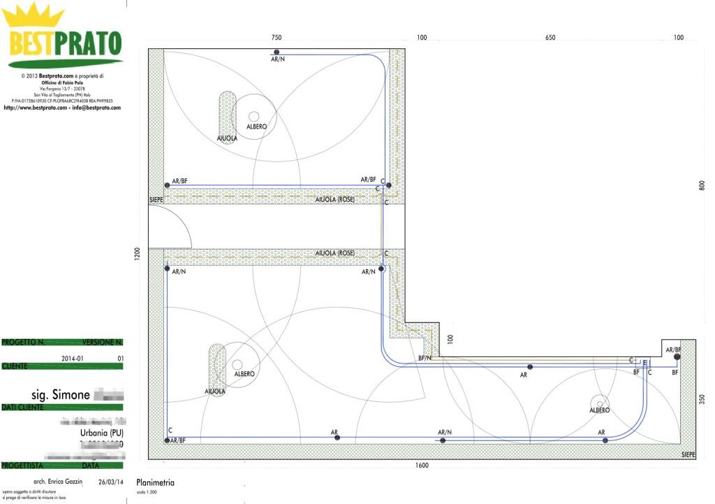 Come progettare e realizzare un impianto di irrigazione - Progetto per giardino ...