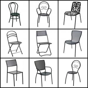Le sedie in ferro battuto da giardino Bestprato