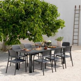 Tavoli Da Giardino Resistenti Allacqua.Set Tavolo Levante 8 Sedie Bora Nardi