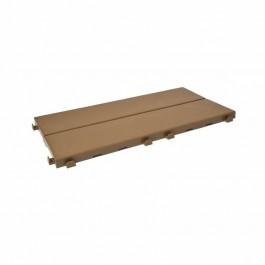 Piastrella in plastica ad effetto legno Easyplate. Color beige.