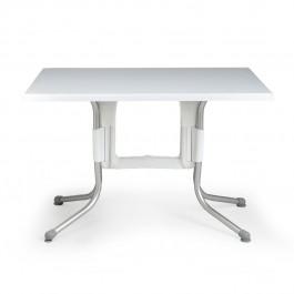 Tavolino Polo 120 di Nardi >>> Struttura Bianco / Anodizzato e Piano Bianco