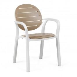 Sedia da esterno Palma di Nardi - bianco e avana