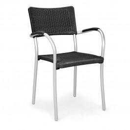 Sedia per esterno Artica Wicker di Nardi - Antracite / Anodizzato Argento