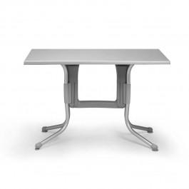 Tavolino Polo 110 di Nardi >>> Struttura Grigio / Anodizzato e Piano Argento