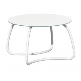 Tavolo vetro e alluminio Loto Dinner 120 di Nardi - Bianco / Verniciato Bianco
