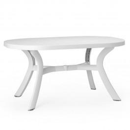 Tavolo ovale da giardino Toscana 145 di Nardi - Bianco / Bianco