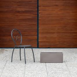 Vaso di design. Finitura opaca. Colore Cappuccino (60 x 25 x H25cm)