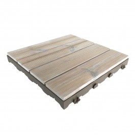 Woodplate Thermowood Bianco   Piastrella in legno
