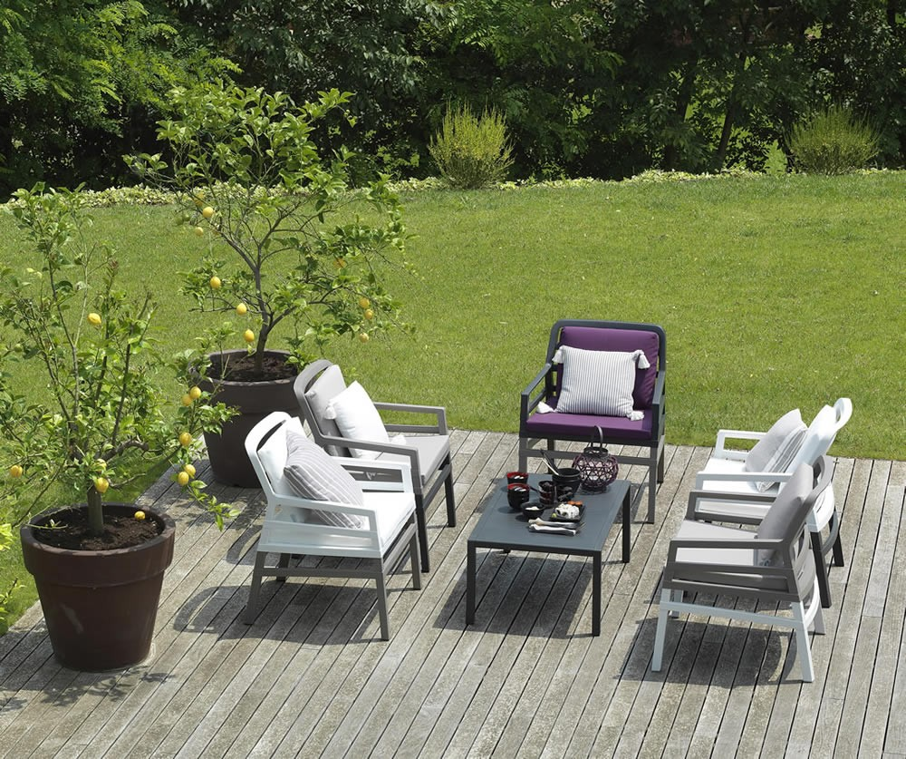 Poltrona da giardino ed esterno con cuscini Aria - Nardi