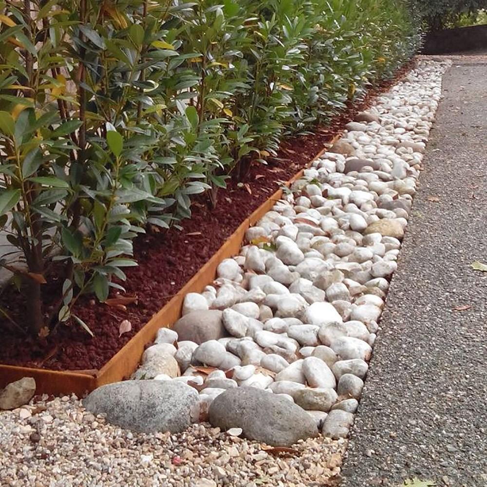 Bordure giardino in ferro corten h16x200 - Bordure per giardino plastica ...