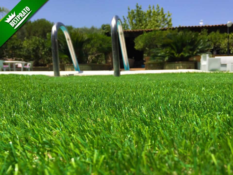 Erba sintetica per giardino 100 effetto reale alta e - Giardino senza erba ...