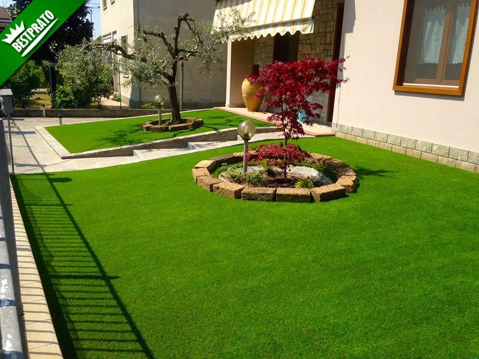 Erba sintetica per giardino effetto reale alta e decorativa