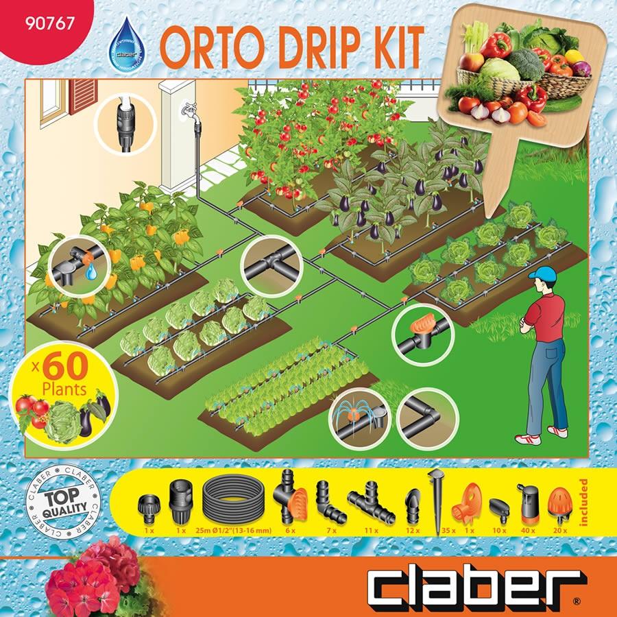 Impianti a goccia per orto awesome in un orto sinergico for Irrigazione per sommersione