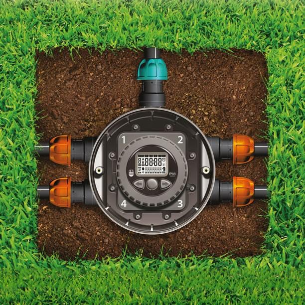 Kit per impianto di irrigazione a batteria hydro 4 claber for Elettrovalvole per irrigazione