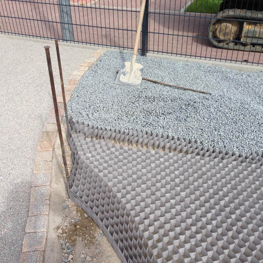 Stabilizzatore per ghiaia flessibile dupont groundgrip in - Ghiaia da giardino ...
