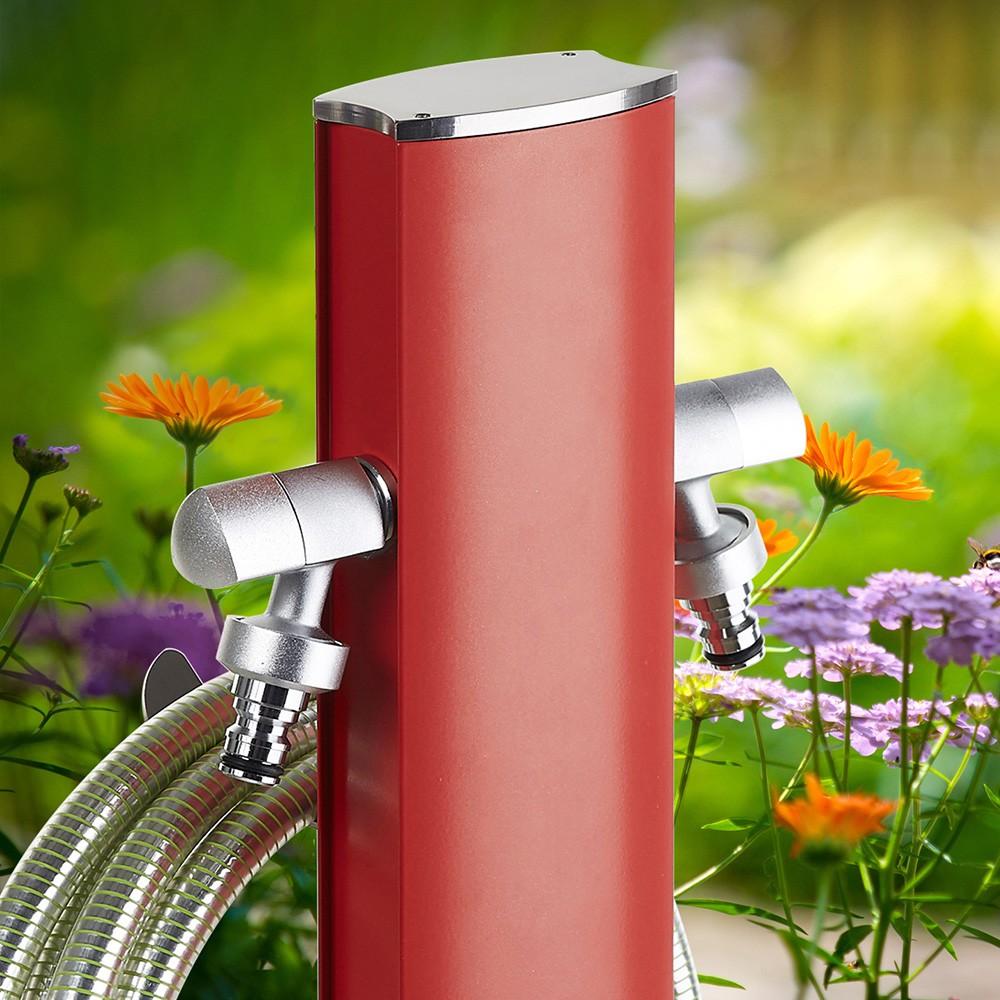 Fontana a colonna di metallo totem aquapoint - Fontana a colonna da giardino ...
