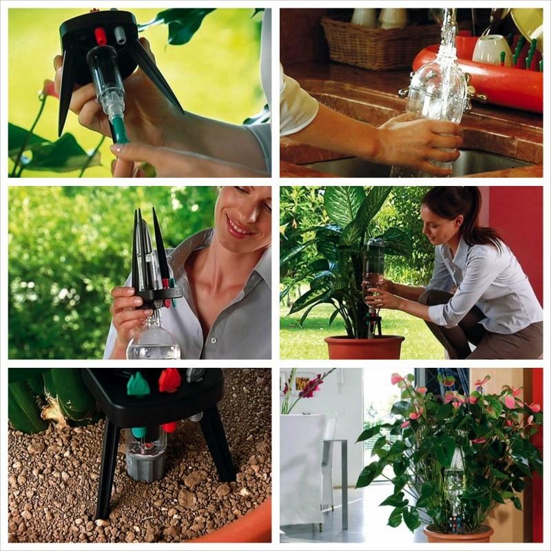 Idris claber irrigatore automatico a bottiglia for Irrigatore automatico per giardino