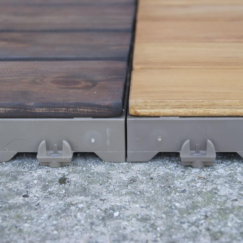 Mattonelle in legno per pavimenti esterni woodplate pino - Piastrelle ad incastro ...