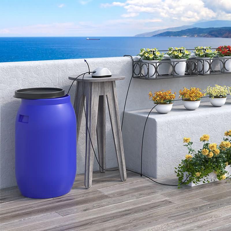 Irrigatore automatico per piante fioriere ed orto aqua for Sistemi di irrigazione a goccia per vasi