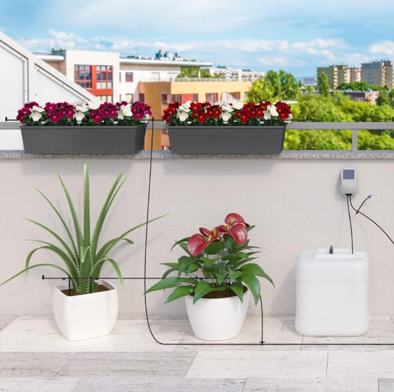 Irrigatore automatico per piante fioriere ed orto aqua - Irrigazione balcone ...