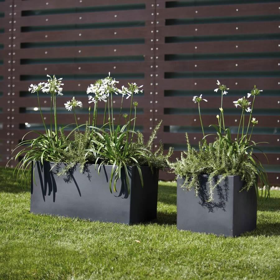 Vaso fioriera a cassetta rettangolare modus nicoli - Vasi rettangolari da esterno ...