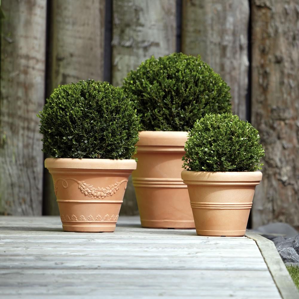 Vaso classico finto terracotta cotto argilla doppiobordo for Vasi in cotto prezzi