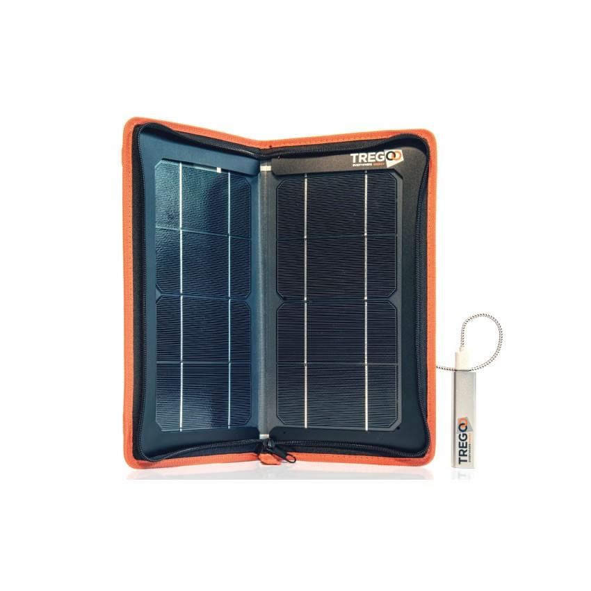 Kit Pannello Solare Con Accumulatore : Pannello solare portatile carica batteria kit