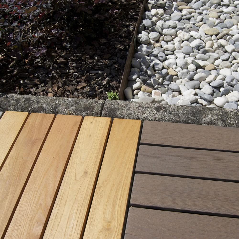 Mattonelle in legno per pavimenti esterni woodplate - Parquet su piastrelle ...