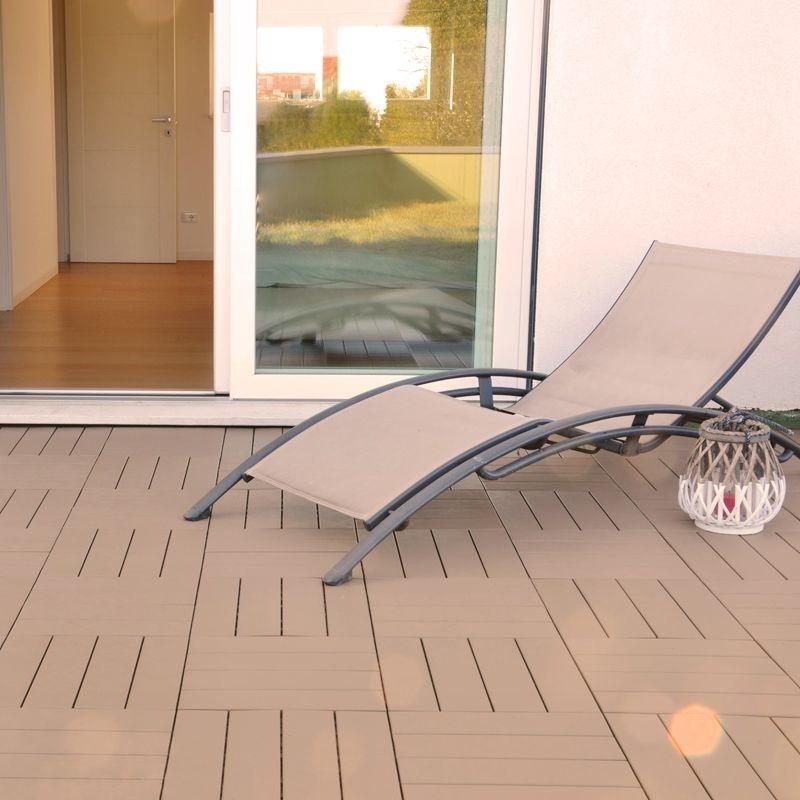 Piastrella in plastica ad effetto legno easyplate beige for Pavimento galleggiante prezzo