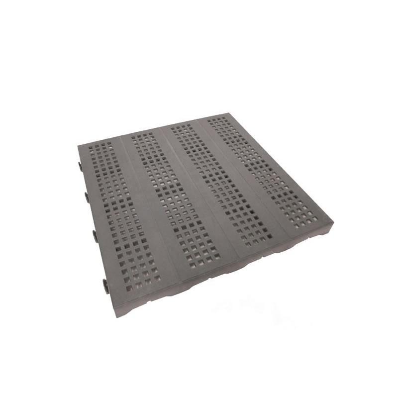 Pavimenti In Plastica Per Esterni.Piastrella 40x40 Forata Grigia