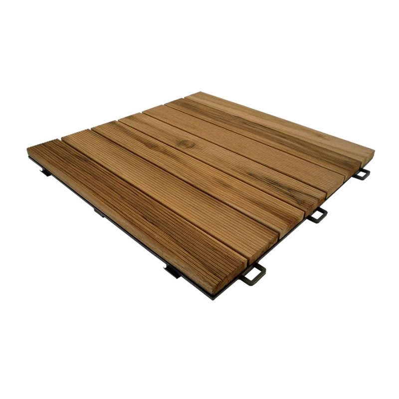Pavimento in legno teak per esterno e giardino piastrella for Piastrelle da esterno ikea