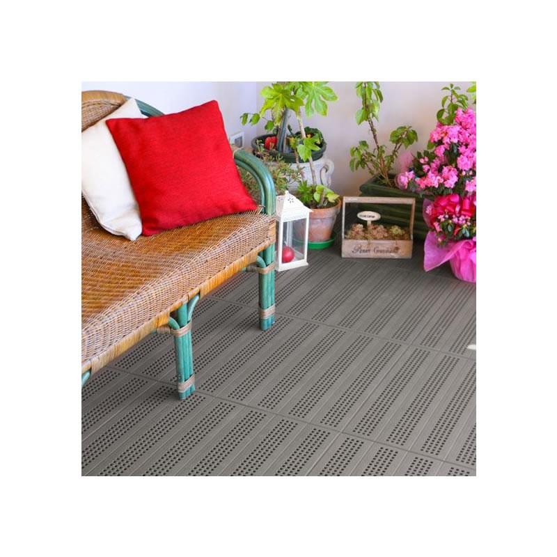 Pavimenti In Plastica Per Terrazzi.Piastrella In Plastica Per Pavimentazione Drenante Per Esterno E