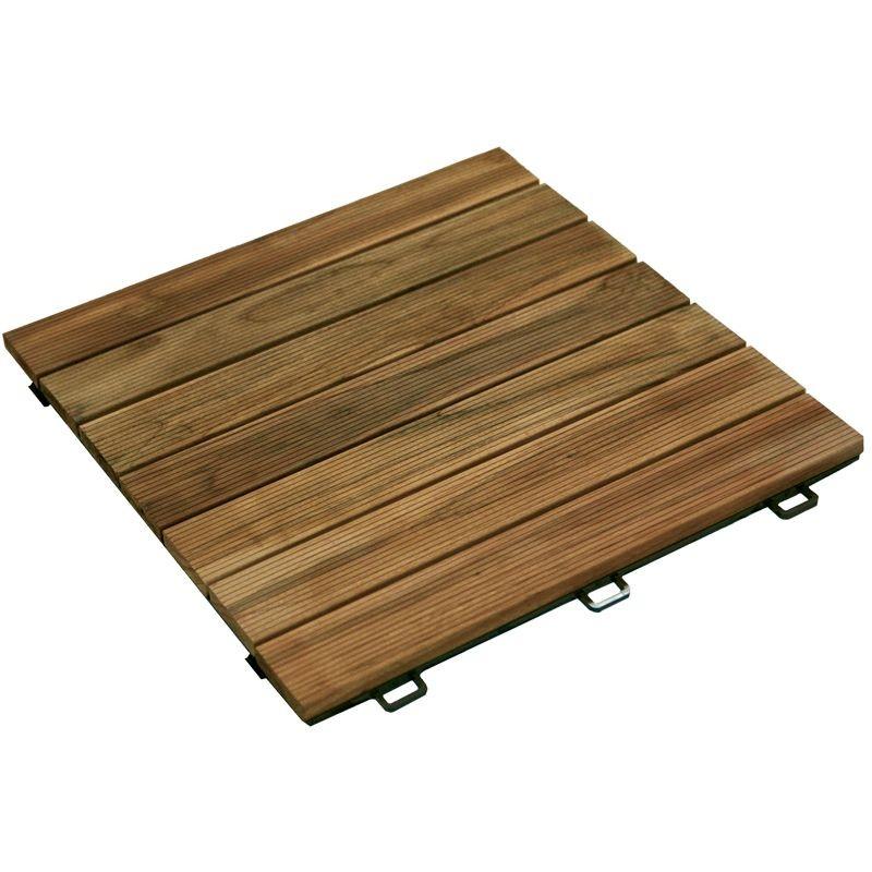 Pavimento in legno teak per esterno e giardino piastrella - Incollare piastrelle su legno ...