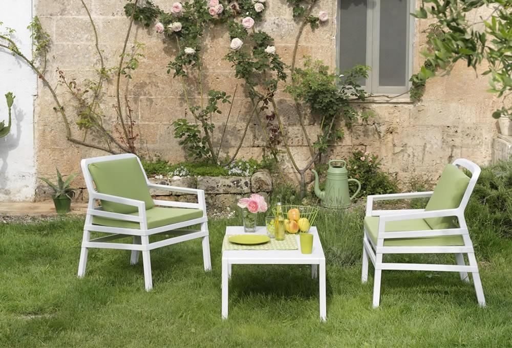 Poltrone Per Esterni Da Giardino.Poltrona Da Giardino Ed Esterno Con Cuscini Aria Nardi