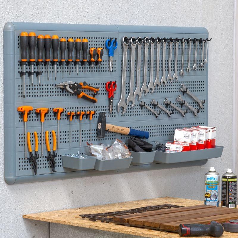 Parete porta attrezzi da appendere modulare 60x60cm - Applique da parete fai da te ...