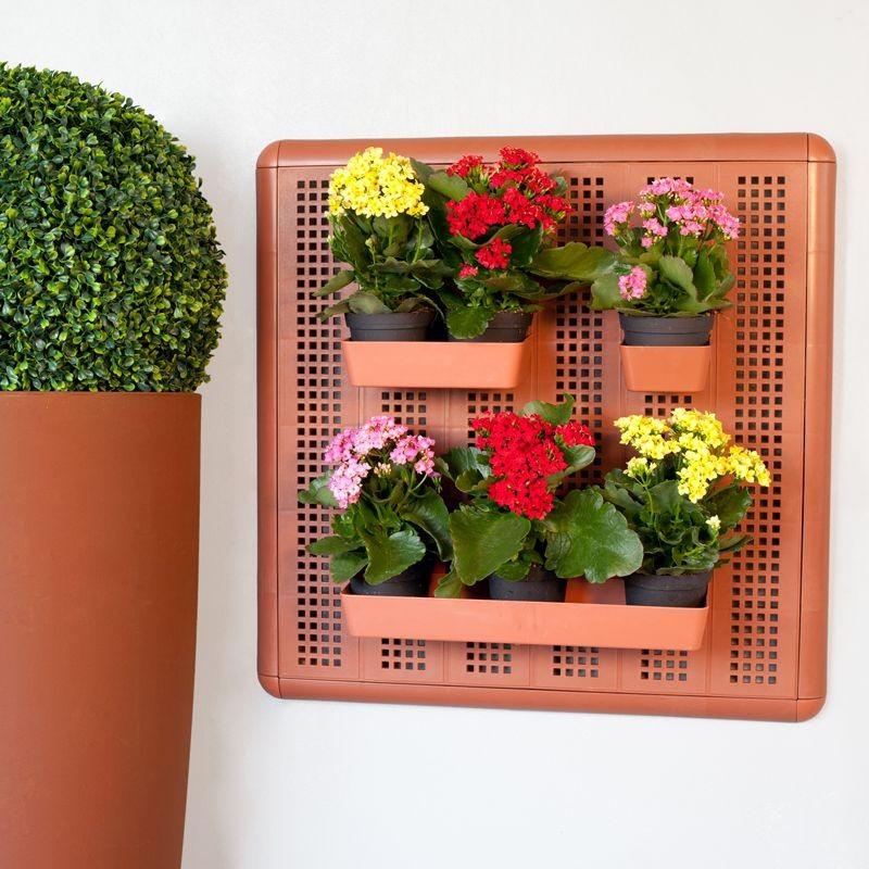 Porta attrezzi da parete modulare 60x60cm - Piante da parete ...