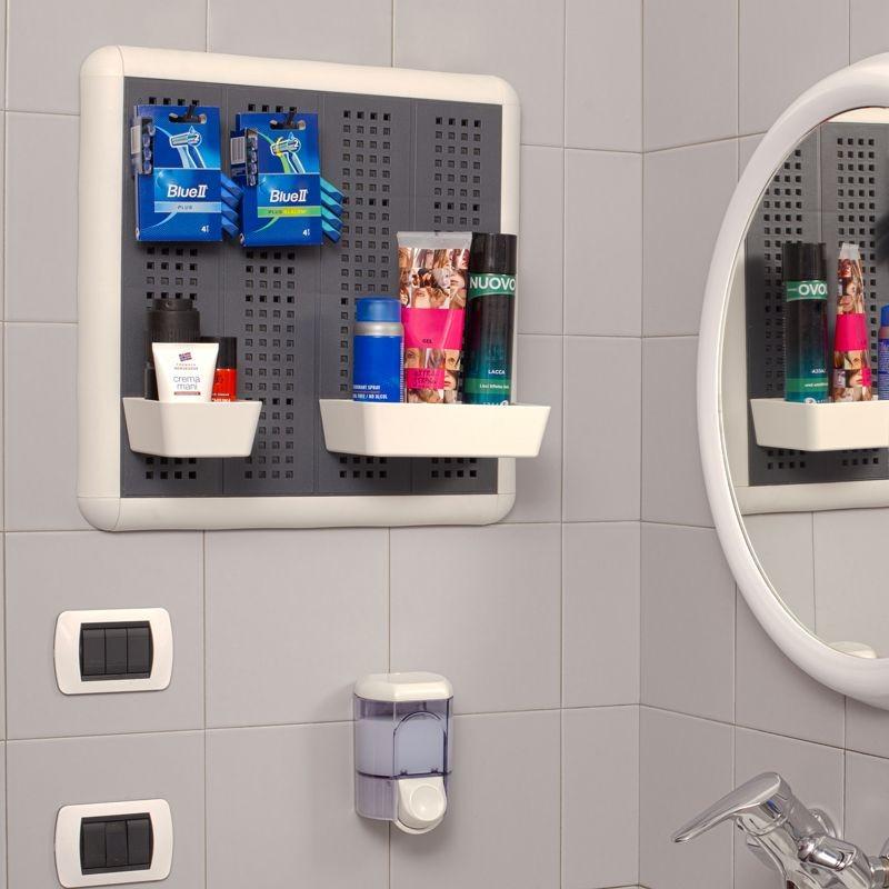 Porta attrezzi da parete paretella 40x40 grigio - Portaoggetti bagno ...