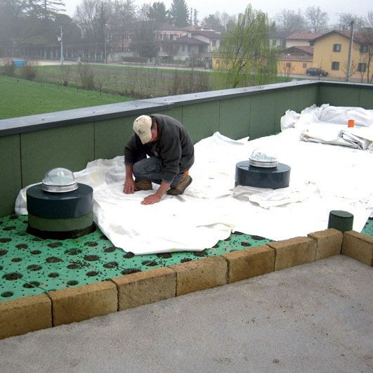 Giardino pensile elemento modulo altezza windi drain 5 - Giardino pensile terrazzo ...