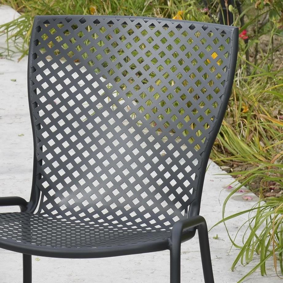 Sedia in acciaio zincato per giardino sonia 1 vendita for Sedie vendita online