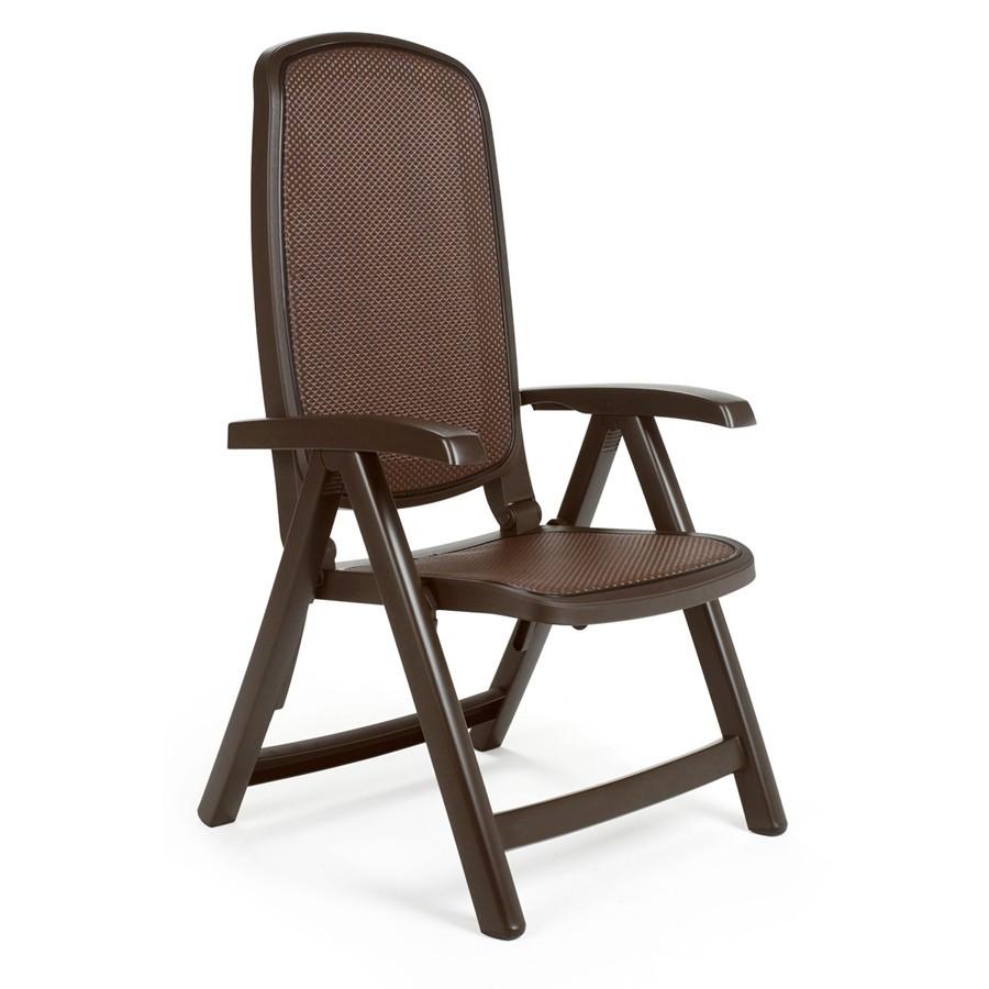 Sedia reclinabile in plastica per giardino delta nardi for Sedia di d annunzio