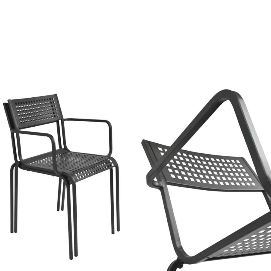 Sedie in ferro battuto per giardino vendita online for Sedie in acciaio