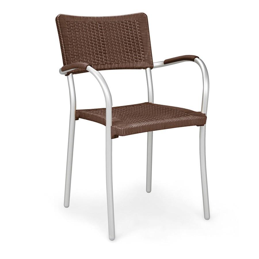 Sedia in rattan sintetico ed alluminio artica wicker nardi for Arredo da giardino in alluminio