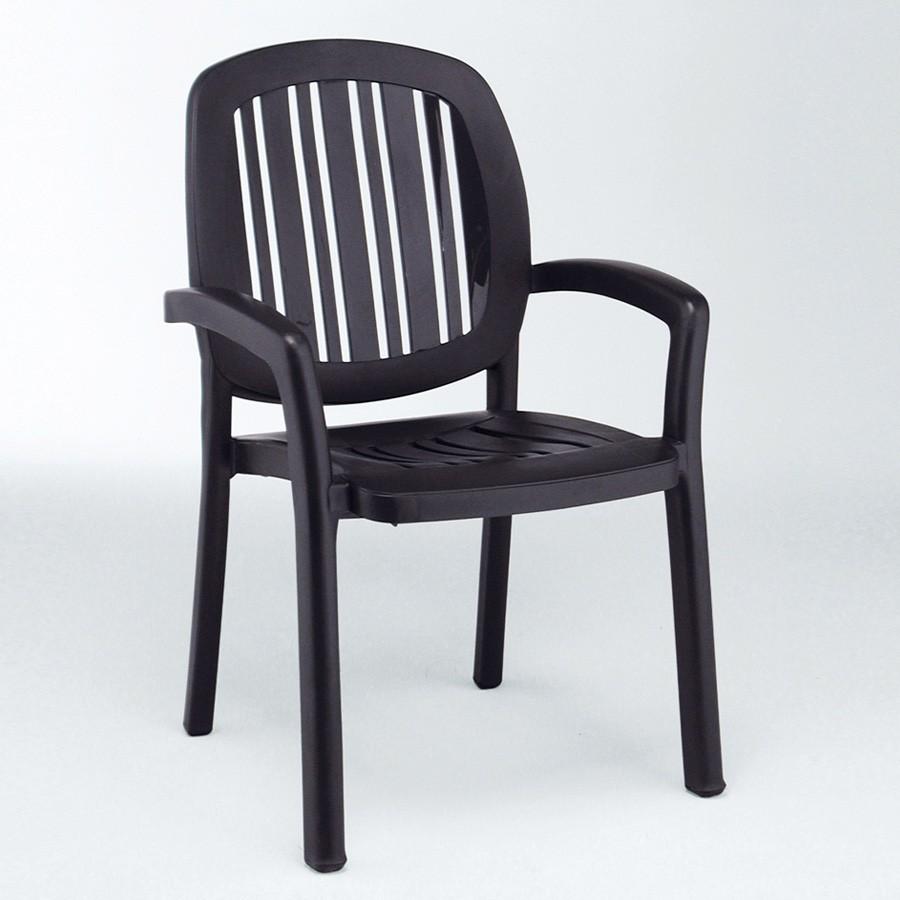 Sedia classica in plastica da esterno ponza nardi for Sedia di d annunzio