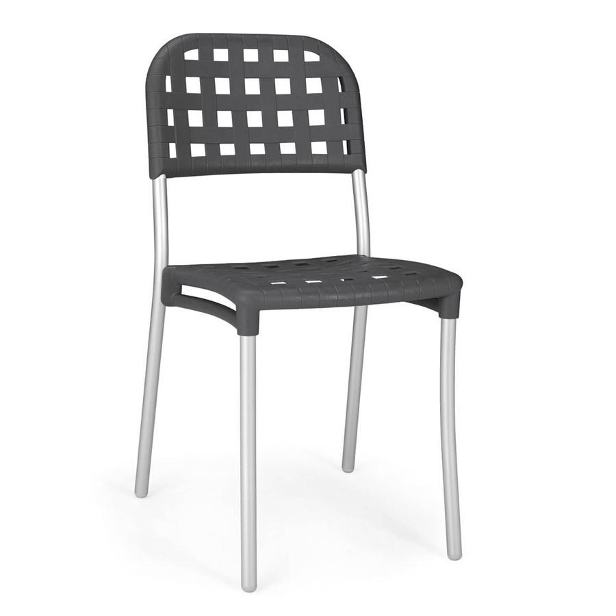 Sedie In Alluminio E Plastica.Sedia Alaska Nardi