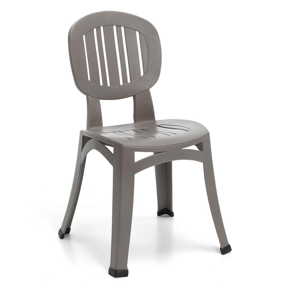 Sedia per esterno in plastica elba nard - Sedie da giardino in plastica ...