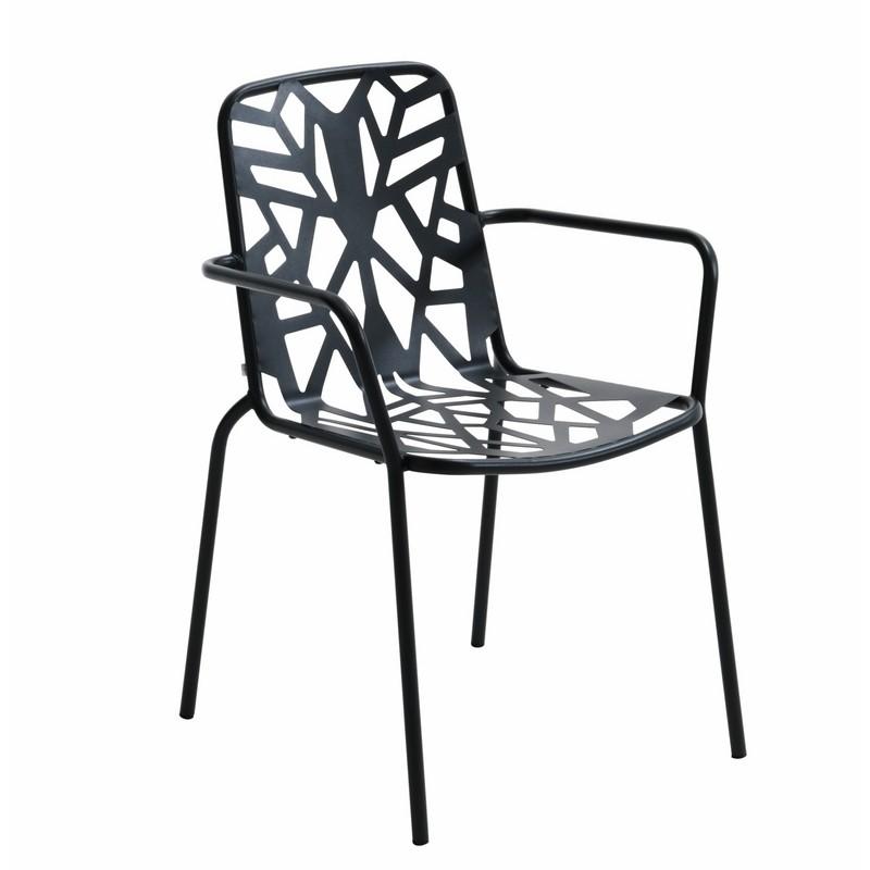 Sedia di design in metallo zincato per giardino fancy leaf 2 for Sedie design metallo