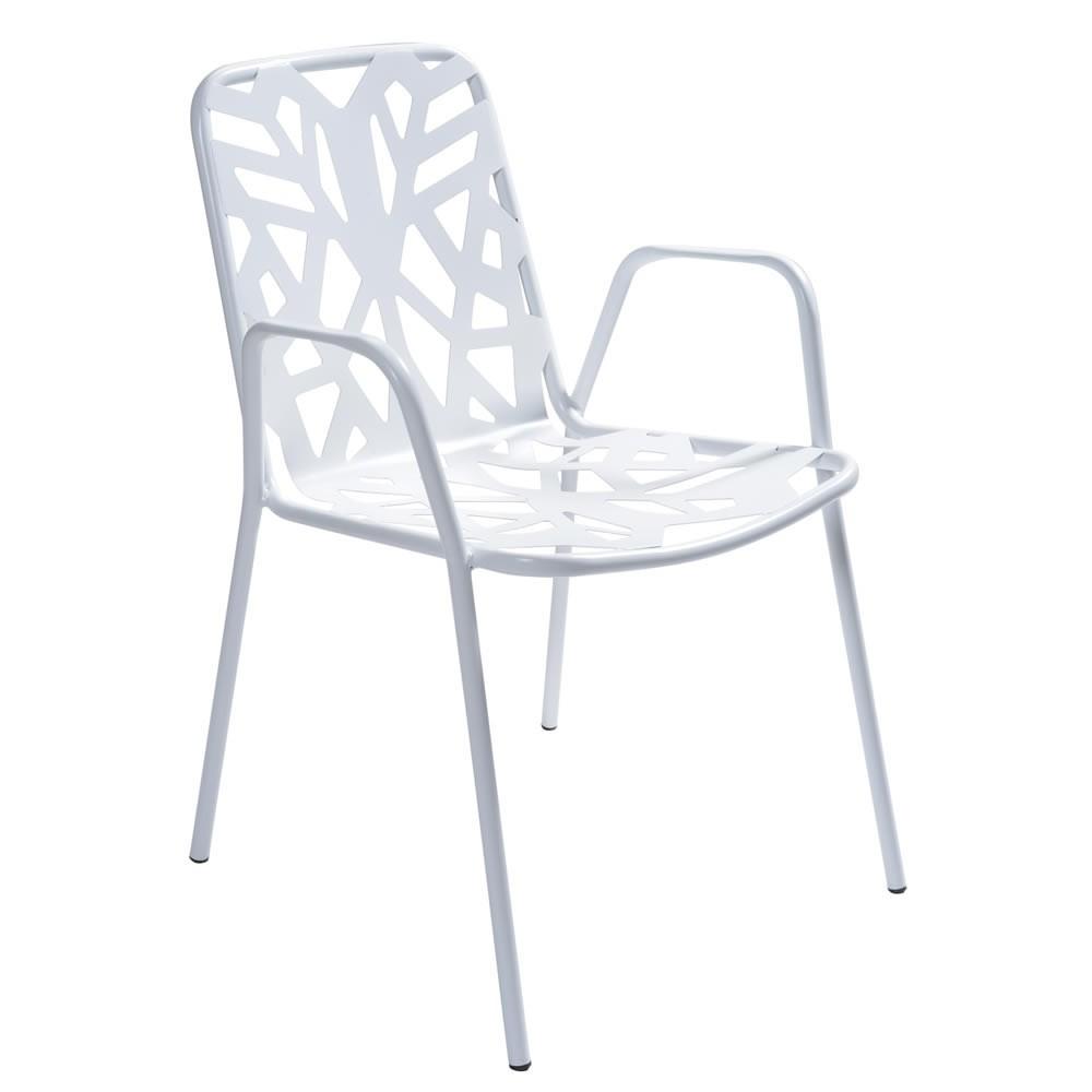 Sedia di design in metallo zincato per giardino fancy leaf 2 - Sedia di design ...